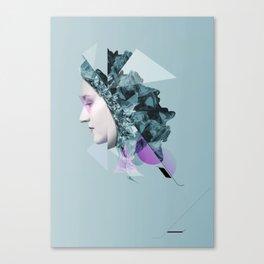 Faces Blue 04 Canvas Print