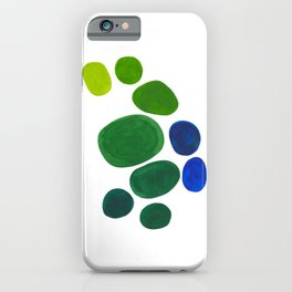 Mid Century Kusama Abstract Minimalist Colorful Pop Art Lime Green Blue Rainbow Ombre Gradient iPhone Case