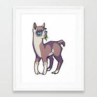 llama Framed Art Prints featuring Llama by Suzanne Annaars