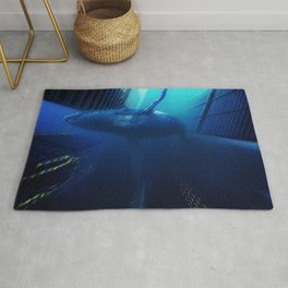 'Sea Change' Environmental Magical Realism 'Save our Oceans' Portrait Rug