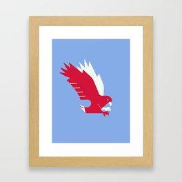 White-tailed eagle - Poland national symbol, flag colors Framed Art Print