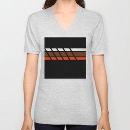 Team Colors 4...Brown ,orange Unisex V-Neck