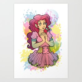 Pinkie Gal Art Print