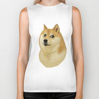 doge Biker Tanks featuring Doge by Brad Collins Art & Illustration