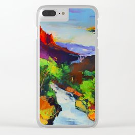 ZION - The Watchman and the Virgin River Clear iPhone Case