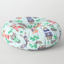 Christmas woodland Floor Pillow
