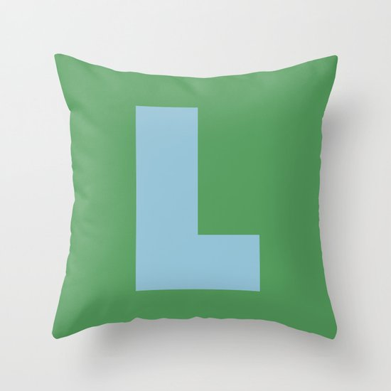 Light Blue L Throw Pillow