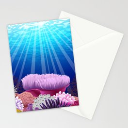 Aquarium eau Stationery Cards