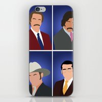 anchorman iPhone & iPod Skins featuring News Team Assemble - Anchorman by Tom Storrer