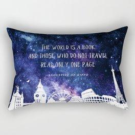 The world is a book Rectangular Pillow