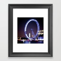 London Eye Bokeh Framed Art Print