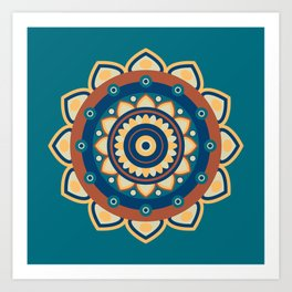 Who's the Mandala Seamless Pattern Art Print