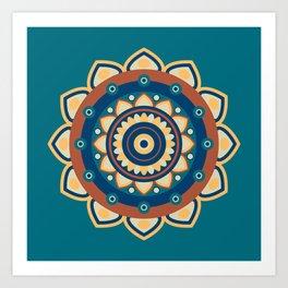 Who's the Mandala Seamless Pattern Art Print