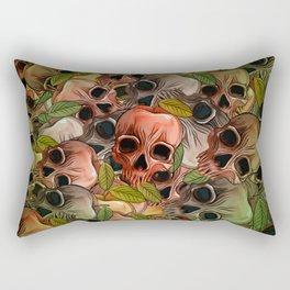 Apple Skull Rectangular Pillow