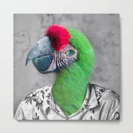 Caribbean Parrot Metal Print