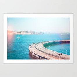 Alcatraz in the Bay Fine Art Print