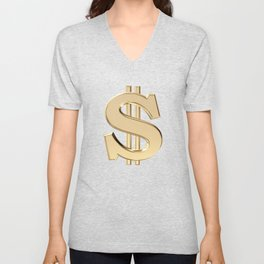 Dollar sign Unisex V-Neck