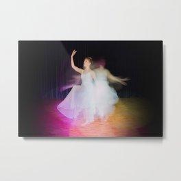 Ballerina dancing on stage Metal Print
