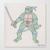 ninja turtle Canvas Prints featuring Teenage Mutant Ninja Turtle by GL Przewoznik