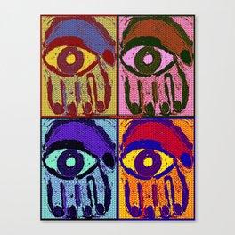 Pop Art Hamsas Canvas Print