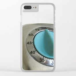 retro timer Clear iPhone Case