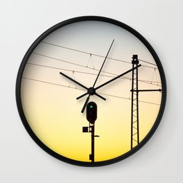 Green light to the unknown Wall Clock