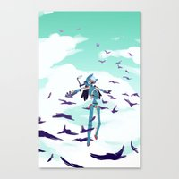 flcl Canvas Prints featuring FLCL by sarlisart