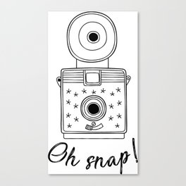 Vintage Camera Oh Snap! Canvas Print