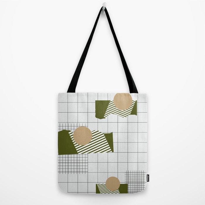 0b69ef3949 Checks Lines Grid Tote Bag by nileshkikuuchise