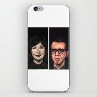 portlandia iPhone & iPod Skins featuring Portlandia Celebrated in Black Velvet by Gil Corral
