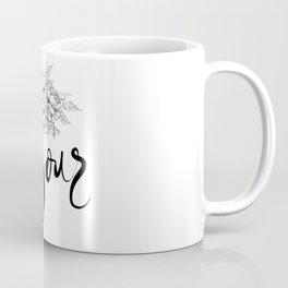 Bonjour ,french hello,floral design Coffee Mug