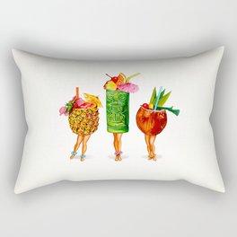Tiki Cocktail Pin-Ups Rectangular Pillow