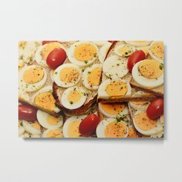 Egg Sandwich Metal Print