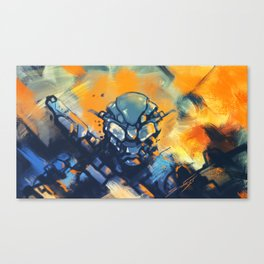 Heat of the Battle Canvas Print