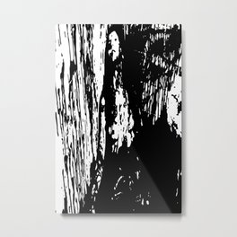 Horror in black and white Metal Print