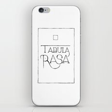 Tabula Rasa iPhone & iPod Skin