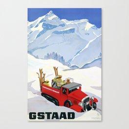 1934 Switzerland Gstaad Travel Poster Canvas Print