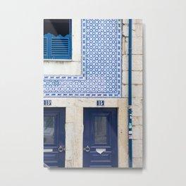 Blue Tile House, Alfama Metal Print