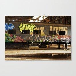 Graffiti Train Car Canvas Print