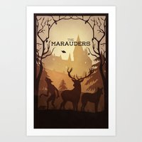 marauders Art Prints featuring The Marauders by sevillaseas