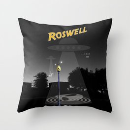 Aliens Over Roswell Throw Pillow