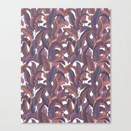 Strelizia leaves pattern Canvas Print