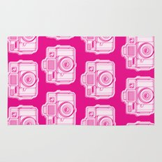 I Still Shoot Film Holga Logo - Reversed Pink Rug