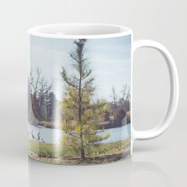 Migrate | Nature Landscape Photography of Birds in Fall Autumn Leaves Trees Coffee Mug