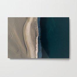 Footsteps during sunrise at a desert lake - Landscape Photography Metal Print