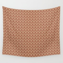 Ligonier Tan SW 7717 V Shape Horizontal Lines on Cavern Clay SW 7701 Wall Tapestry