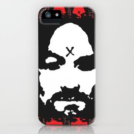 Charles Manson. The King Of Hearts. iPhone Case