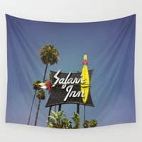 safari Wall Tapestries featuring Safari Inn by Nick Douillard