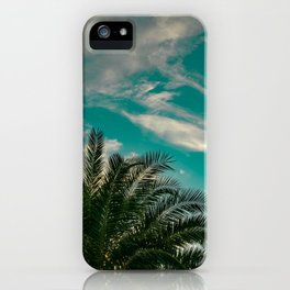 Palms on Turquoise - II iPhone Case
