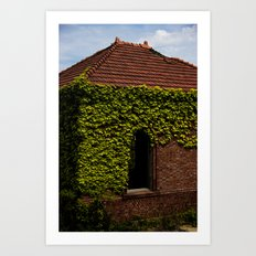 Pump house Art Print